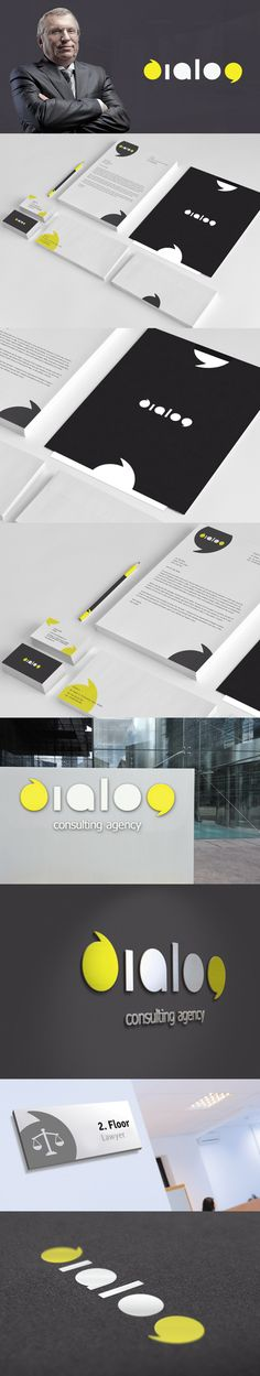 dialog by Max Lapteff. Combination of explicit branding identity and environment/signage design.