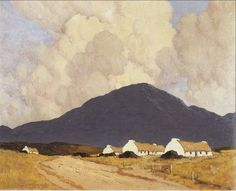 by Paul Henry April 1877 – 24 August was an Irish artist noted for depicting the west of Ireland landscape with a spare post-impressionist style. Irish Landscape, Ireland Landscape, Landscape Art, Landscape Paintings, Irish Painters, Images Of Ireland, Irish Art, Amazing Paintings, Impressionist Paintings