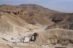 Valley of the Kings, Egypt. Entrances to ancient tombs.