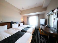 APA Hotel Tokyo-Shiomi-Ekimae, Tokyo, Triple Room, Non Smoking (110cm bedx2 & 75cm small bed), Guestroom