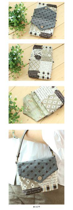 [투포켓 미니백-★짧은 가죽핸들 제공] Bag Patterns To Sew, Quilt Patterns, Sewing Patterns, Bag Quilt, Beaded Brooch, Japanese Fabric, Quilted Bag, Applique Quilts, Beautiful Bags