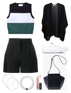 """Untitled #398"" by cristiana-s ❤ liked on Polyvore featuring Alberta Ferretti, A.L.C., Kinross, Converse, Lokai, claire's and MAC Cosmetics"
