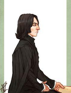 """wiebkeart: """" Professor Snape again ^^ """""""