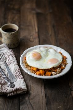 Sweet Potatoes, Wheat Berries, and Eggs | Naturally Ella