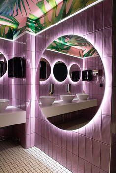 Apteekkari Club is a brand new floor addition to the original Apteekkari Bar designed also by VDPHelsinki. Salon Interior Design, Bar Interior, Restaurant Interior Design, Interior And Exterior, Lumiere Restaurant, Deco Restaurant, Dream Home Design, House Design, Restaurant Bathroom