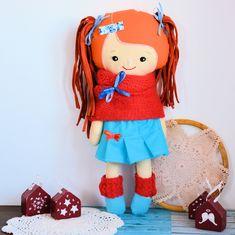 Cukierkowa lalka Daria 43 cm - wersja zimowa #clothdoll, #doll #handmade #stuffed #toy @pracownia.malykoziolek Stuffed Toy, Doll Clothes, Dolls, Handmade, Baby Dolls, Hand Made, Puppet, Doll, Baby Dresses