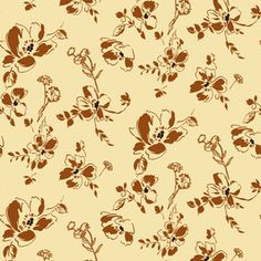 #1940s #Vintage #Tossed #Autumn #Harvest #Floral #pattern by #NikitaCoulombe now available on #PatternBank