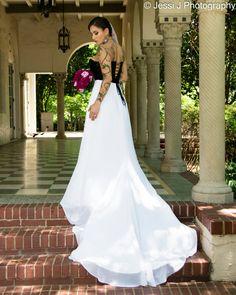 Tattoo bride, Landa Library San Antonio,Tx , #High Fashion Bridal shoot Model: Jess Zamora HMUA: Becca Wright Photographer: Jessica Joven (Jessi J Photography