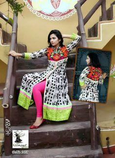 Moq: Full catalog Of 15 pcs only  Fabric: Mix Fabrics - Georgette, Cotton Price: Rs. per pcs Ready to Wear - Mix size in one catalog.  L - Xl - XXL Pakistani Dresses, Indian Dresses, Indian Outfits, Indian Clothes, Chudi Neck Designs, Dress Designs, Anarkali Tops, Kurta Patterns, Long Kurtis