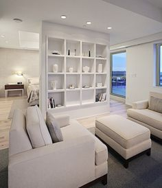 Modern Condo by Angelini and Associates Architects Condo Living, Living Spaces, Small Living, Living Rooms, Home Interior Design, Interior Architecture, Interior Decorating, Contemporary Kitchen Cabinets, Modern Condo