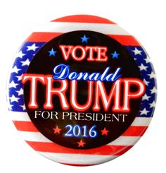 "Pack-20 Donald Trump President Flag Pinback Buttons 2016 President 2.25"""