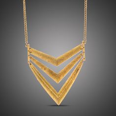 Gold Geometric Bib