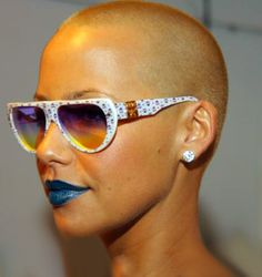16610e2926 Amber Rose In Vintage MCM Sunglasses