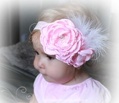 Stunning photo prop!! Perfect for Flower Girls and Special Occasions... This darling headband is a must have for your little fashionista closet...