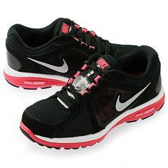 Amazon.com: Nike Dual Fusion Women's Running Shoes 525752-001 Black/Fireberry/Silver: Shoes