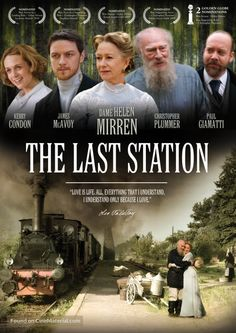 High resolution movie poster image for The Last Station Netflix Movies To Watch, Movie To Watch List, Tv Series To Watch, See Movie, Film Movie, The Last Station, Period Drama Movies, Period Dramas, Amazon Prime Movies