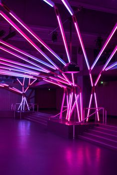 Gallery of Rhizomatic Grid Neon Lighting, Lighting Design, Club Lighting, Light Art Installation, Art Installations, Nightclub Design, Neon Room, Neon Wallpaper, Neon Party