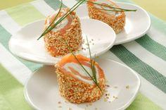 petites bouchees de saumon aux graines de sesame