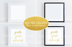 Check out Square Frames Mockup Bundle (55) b&w by BrownLeopard on Creative Market