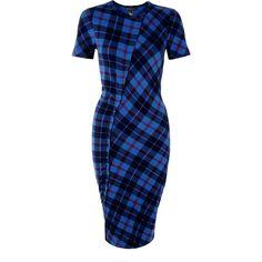 Marc by Marc Jacobs Penn Plaid Midi Length Dress found on Polyvore