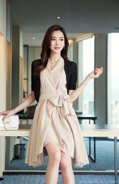 Korean Women`s Fashion Shopping Mall, Styleonme. Korean Fashion Kpop, Asian Fashion, Girl Fashion, Fashion Dresses, Womens Fashion, Chic Dress, Flare Dress, Korean Beauty, Asian Beauty