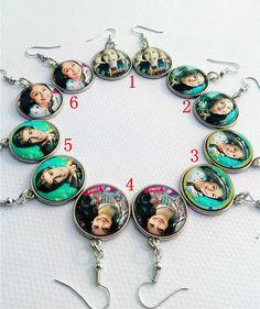 12pair/lot New Design earbob Super pop singer Soy Luna Earrings Elenco de Soy Luna silver ear pendants I'm moon Drop Earrings