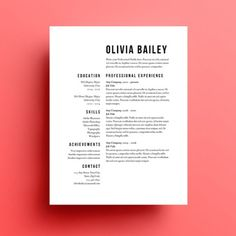 Using Resume Templates in Your Job Search