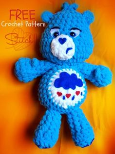 Free pattern :  Grumpy Bear by Corina Gray