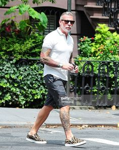 Nick Wooster is seen in the West Village on July 24, 2013 in New York City.