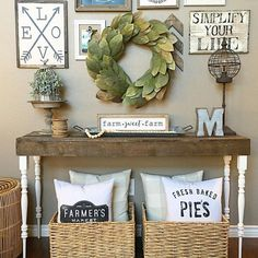 cool Living room console table. Farmhouse style! See this Instagram photo by @thedown... by http://www.top-100-home-decor-pics.us/living-room-decorations/living-room-console-table-farmhouse-style-see-this-instagram-photo-by-thedown/