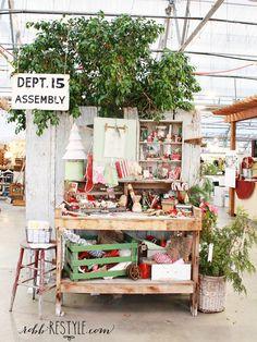 Holiday Hobnob Market booth display ideas
