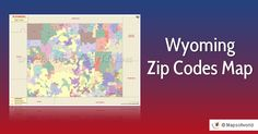 Have you seen such a beautiful zip code map of Wyoming before? Zip Code Map, Postal Code, Have You Seen, Wyoming, Usa, City, Beautiful, Cities, U.s. States