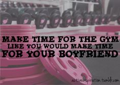 or your husband, or your kids, or ... just make time for the gym.