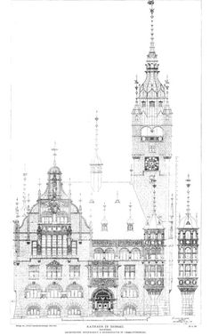 Elevation of the City Hall, Dessau