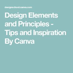 Design Elements and