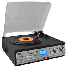 Pyle Classic Retro Style Turntable with AM-FM Radio, Cassette Player & Aux Input For iPod-MP3 Playershttps://goo.gl/kn9X8H  #awesomesauce