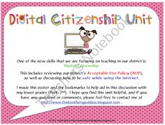 Digital Citizenship With Elementary Students product from The-Book-Fairy-Goddess on TeachersNotebook.com