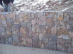 Dry stone wall effect inside gabions & Orhan GENEL