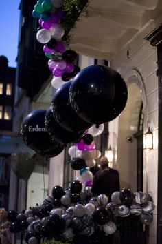 all black balloons from fiona leahy Love Balloon, Balloon Garland, Balloon Decorations, Black Balloons, Pink Trees, 80s Party, Party Ideas, Gift Ideas, Primark