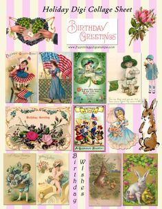 **FREE ViNTaGE DiGiTaL STaMPS**: Free Vintage Printable - Holiday Collage