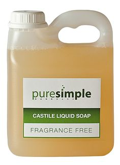 A simple method of achieving a liquid soap by dissolving a natural soap bar. This liquid soap is not suitable for re-selling, but is a good option for personal use. Natural Cleaning Recipes, Homemade Cleaning Products, Natural Cleaning Products, Dishwashing Liquid, Liquid Soap, Castile Soap Recipes, Natural Baby, Going Natural, Pure Simple