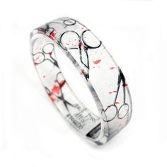 "For all the hair stylists out there.... but Dexter style.  ""Don't Run with Scissors"" Bracelet! $34.00"