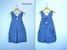 80s LEE Overalls / Overall Shorts / Carpenter Jean by SnapVintage, $34.00