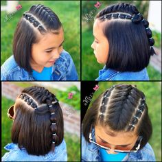 Hair style for little girls Coiffure pour les petites filles Cute Little Girl Hairstyles, Baby Girl Hairstyles, Trendy Hairstyles, Braided Hairstyles, Childrens Hairstyles, Teenage Hairstyles, Toddler Hairstyles, Hairdos, Natural Hair Styles