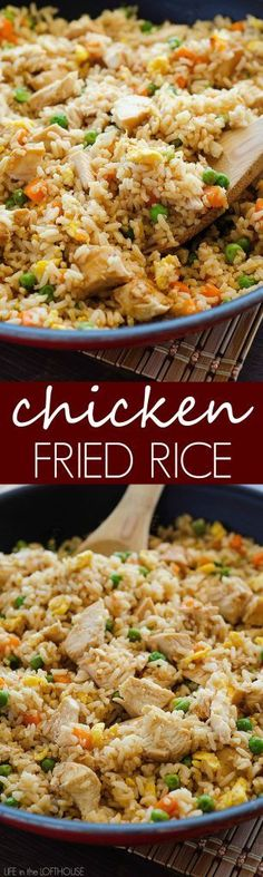 An important thing about making fried rice is to use day old/cold rice. If you use freshly cooked warm rice the mixture will be sticky or mushy.
