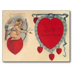 Cartão do vintage da mensagem dos namorados