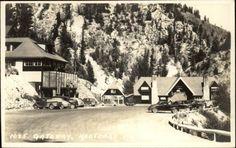 Kootenay National Park Hotel & Cars BYRON HARMON #1025 Real Photo Postcard