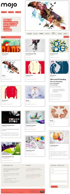 one page premium portfolio WordPress theme from eFrog Themes