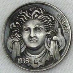 Italy Pictures, Hobo Nickel, Coin Art, Art Forms, Sculpture Art, Fantasy Art, Cactus, Coins, Skull