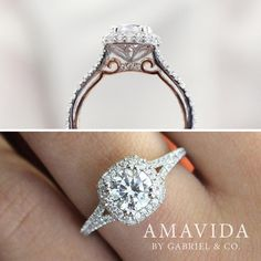 "7,164 Likes, 132 Comments - Gabriel & Co. (@gabrielandco) on Instagram: ""Represent your love. Discover this beautiful Amavida® engagement ring by clicking the link in our…"""